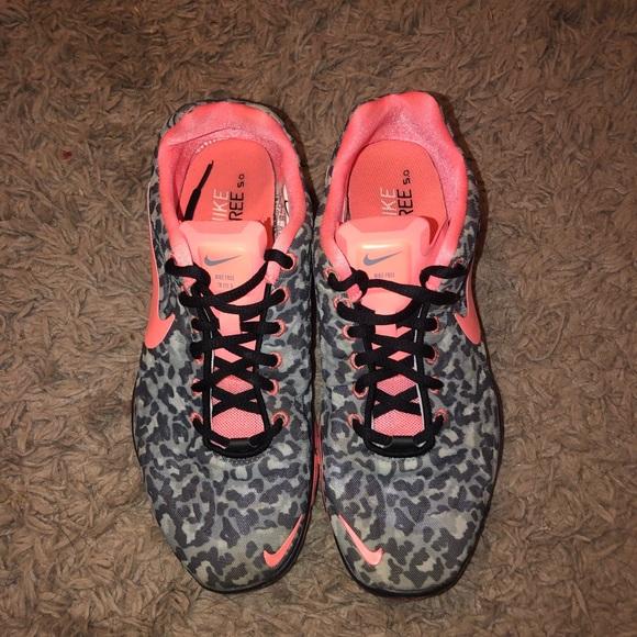Nike Free 5.0 Cheetah Print Sneakers
